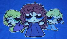 """Princess Puff Girls"" Elsa Merida Women's Small Shirt Ript"