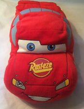 "Lightening McQueen Cars Toy  pillow plush 13"" Elastic Strap Blanket Holder"