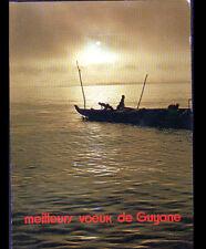 CAYENNE (GUYANE) ENFANTS en PIROGUE / MEILLEURS VOEUX en 1983