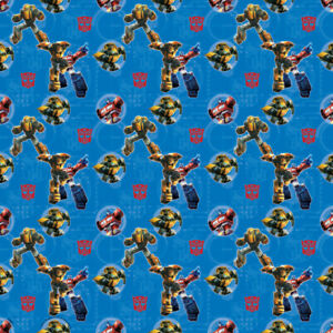 TRANSFORMERS GIFT WRAP (1 roll) ~ Party Supplies Wrapping Paper Decorations Blue