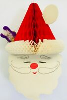 Vintage Santa Claus Head Paper Garland Christmas Decoration 4 Included In 1 Pack