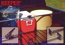 """Keeper 05059 40"""" x 70"""" Adjustable Ratcheting Cargo Bar with No Mar Rubber Pads"""