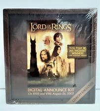 Lord of the Rings Two Towers Digital Announce Kit Cd-Rom Promotional Kit *199