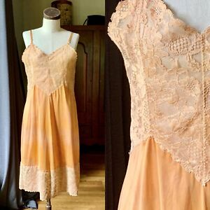 DYED PETALS Vintage Botanically Dyed Tie-Dyed Slip Dress M/L 40
