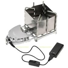 Portable Foldable Cooking Picnic BBQ Stove Survival Wood Burning Camping Stove
