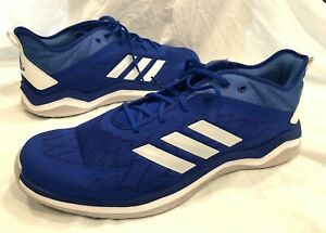 Adidas Men's Blue Speed Trainer 4 Casual Baseball Shoes Medium Width - Size 17