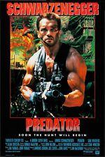More details for predator 1987 arnold schwarzenegger movie poster film canvas art print 80s