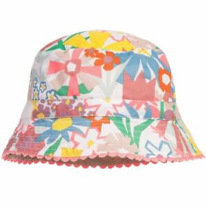 STELLA MCCARTNEY GIRL ORGANIC COTTON FLORAL SUMMER HAT SZ 12-18 MONTHS BNWT $112