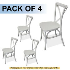 White Dover Cross Back Chair (4 Chairs)