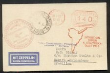 Germany, 1932, 4th So. America Zeppelin flight to Brazil with Meter Franking