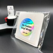 Mr Fusion Vinyl Wrap Sticker for the Eaglemoss 1:8 Build the BTTF Delorean