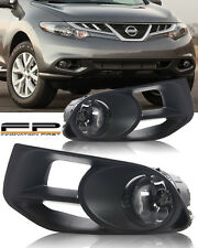 For 2011-2014 Nissan Murano Clear Fog Light Complete Kit Include Switch+Harness