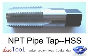 1/4-18 NPT Pipe Tap High Speed Steel HSS Bright Finished Taper Thread Ground