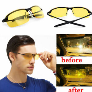 Night Vision Driving Glasses Polarized Yellow Lens Unisex Sports Sunglasses