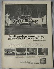 1970 Shell 54 miles on one gallon in Mini Original advert