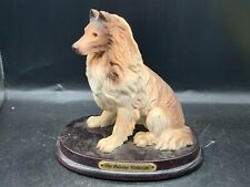 More details for vintage the juliana collection dog rough collie ornament figure mounted