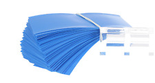 Heat shrink tube for single 18650 battery shrink foil sleeve BLUE set of 10