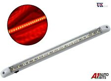 1 X LED 24V INTERIOR RED LIGHT LAMP 400MM ON/OFF SWITCH FOR TRUCK LORRY MAN DAF