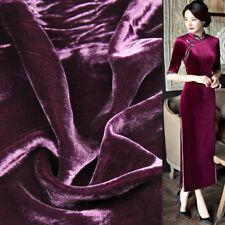 Deep wine red silk velvet fabric silk viscose blended fabric 210g/meter,SVL014