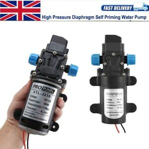 12 Volt 60W 100W High Pressure Car Boat Wash Water Pump Self Priming Sprayer UK