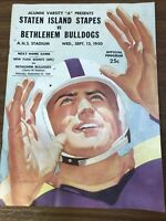 Rare Bethlehem Bulldogs vs Staten Island Stapes AFL  Sept 1950 Program Football