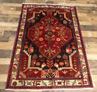 """3'8""""x5'5"""" Fine Hand Knotted wool Nahavand great Oriental Traditional area rug"""