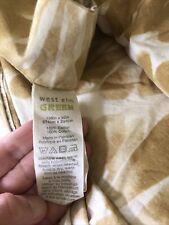 "New listing West Elm Duvet Cover Watercolor Fan Diamond Yellow King 108x92"" Organic Cotton"