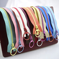 10Pcs 3# Closed End Zippers Resin Pull Ring Slider Head Sewing Bag Clothing DIY