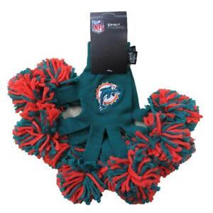 NEW NFL Miami Dolphins Fingers Fingerz Pom Pom Gloves by Wincraft
