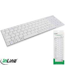 InLine® Bluetooth Mini-Tastatur mit Touchpad, Windows 10 kompatibel, weiß (202