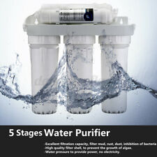 5 Stage Water Filters Home Drinking Reverse Osmosis System No Pump Water Filter