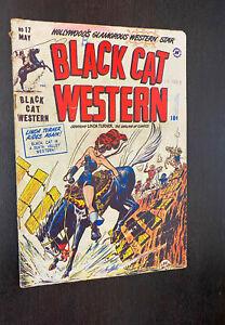 BLACK CAT (Western) COMICS #17 (Harvey 1949) -- Golden Age Good Girl Art -- VG-