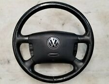 2002 VW MK4 Jetta Golf GTI Black 4 Four Spoke Steering Wheel Airbag Controls OEM