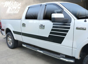 Ford F150 2009- 2014 Side Strobe Hockey Racing Rally Stripes Decals Graphics