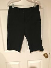 Women's NIKE Bermuda Dri-fit Golf Shorts Black Size 6P NWOT.