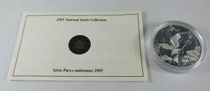 2005 Canada $20 NORTH PACIFIC RIM NATIONAL PARKS Proof Fine Silver Coin & CoA