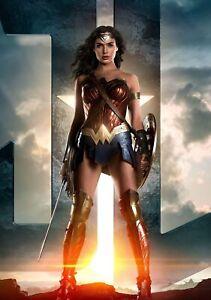 WONDER WOMAN Movie PHOTO Print POSTER Film Art Gal Gadot Justice League 021