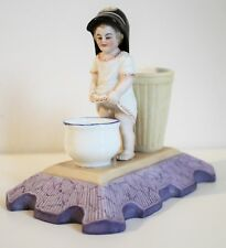 Antique Russian Porcelain Figurine A SPILL VASE WITH A FIGURE OF A PEEING BOY