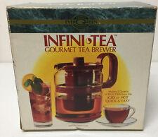 Vintage Gemco Infini Tea Gourmet Brewer 2 Quarts Pot Stove Top Glass New