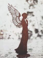 Edelrost Engel Santine ca. 30 cm Dekoration Garten Skulptur Weihnachten Flügel