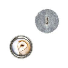 Barn Owl - Bird Wildlife - Metal Craft Sewing Novelty Buttons Set of 4