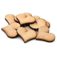 x150 Wooden MDF Mini 20mm Hearts Embellishments Plaque & Card Making Crafts