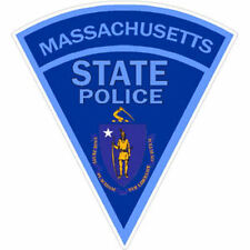 3 Inch Non-Reflective Massachusetts State Police Sticker Decal