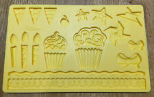Wilton Birthday Cake Star Bow Candle Lace Floral Chocolate Mould