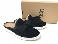 Ugg Australia Luci Bow Black Mules Shoes Slip On 1092515 Women's Suede