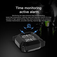 Motorcycle TPMS USB Charging Tire Pressure System Monitor 2 Sensor Real-Time LCD