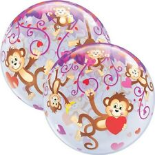 Party Supplies Love Valentines Day Monkey Love Bubble Balloon