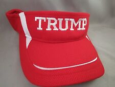 DONALD TRUMP EMBROIDERED RED VISOR For President Money USA 2020 Republican Red