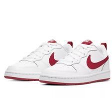 Niños Nike Court Borough Baja 2 (GS) entrenadores BQ5448 103 Blanco/Rojo Talla UK 5 EU 38