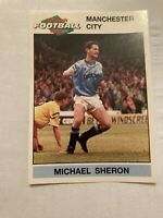 Panini English Football 1992 #115 Michael Sheron Manchester City
